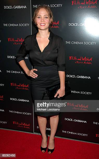 Actress Erika Christensen attends a screening of Filth and Wisdom hosted by The Cinema Society and Dolce and Gabbana at the IFC Center on October 13...
