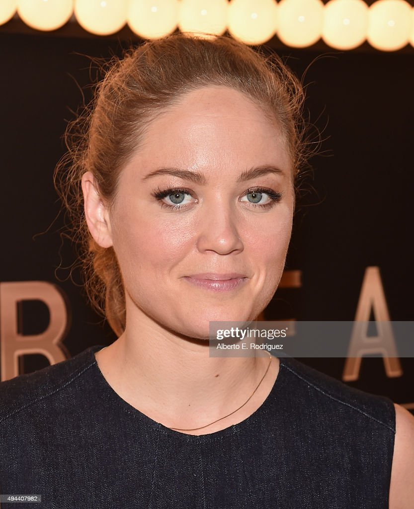 Actress Erika Christensen attends National Geographic Channel's 'Breakthrough' world premiere event at The Pacific Design Center on October 26, 2015 in West Hollywood, California.
