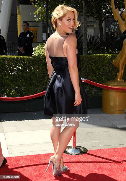Actress Erika Christensen attends the 2010 Creative Arts Emmy Awards at Nokia Plaza L.A. LIVE on August 21, 2010 in Los Angeles, California.