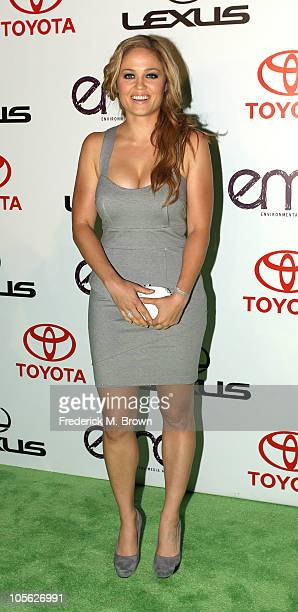 Actress Erika Christensen attends the 20th annual Enviornmental Media Association Awards at Warner Brothers Studios on October 16 2010 in Burbank...