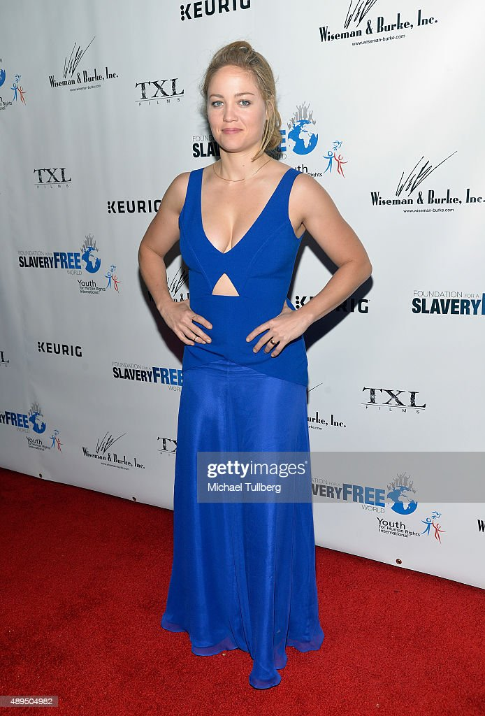 Actress Erika Christensen attends The Human Rights Hero Awards presented by Marisol Nichols' Foundation for a Slavery Free World and Youth for Human Rights Internationa at Beso on September 21, 2015 in Hollywood, California.