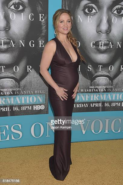Actress Erika Christensen attends the premiere of HBO Films' 'Confirmation' at Paramount Theater on the Paramount Studios lot on March 31 2016 in...