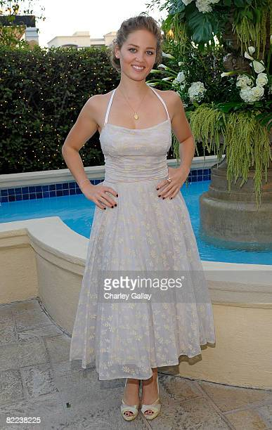 Actress Erika Christensen poses during the 39th annual Church of Scientology anniversary gala held at The Church of Scientology Celebrity Centre...