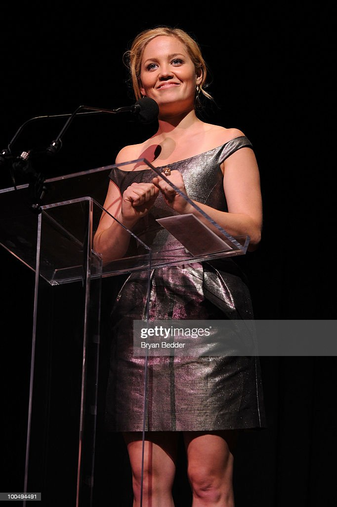 Actress Erika Christensen speaks onstage at the The Film Society of Lincoln Center's 37th Annual Chaplin Award gala at Alice Tully Hall on May 24, 2010 in New York City.