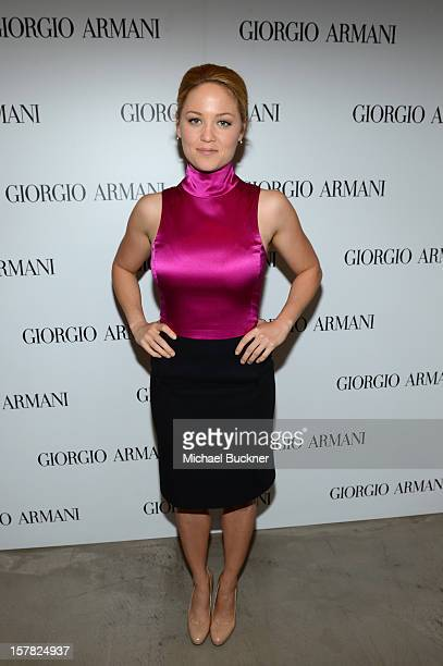 Actress Erika Christensen wearing Emporio Armani attends the Giorgio Armani Beauty Luncheon on December 6 2012 in Beverly Hills California