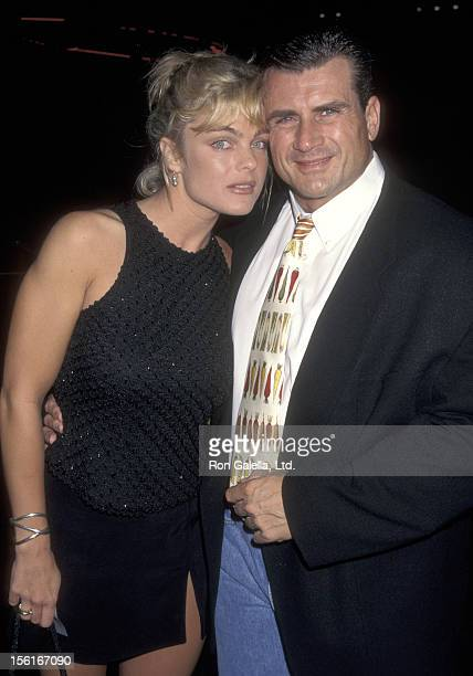 Actress Erika Eleniak and Philip Goglia attend ABC TV Affiliates Party on September 10 1997 at the Armand Hammer Museum in Westwood California