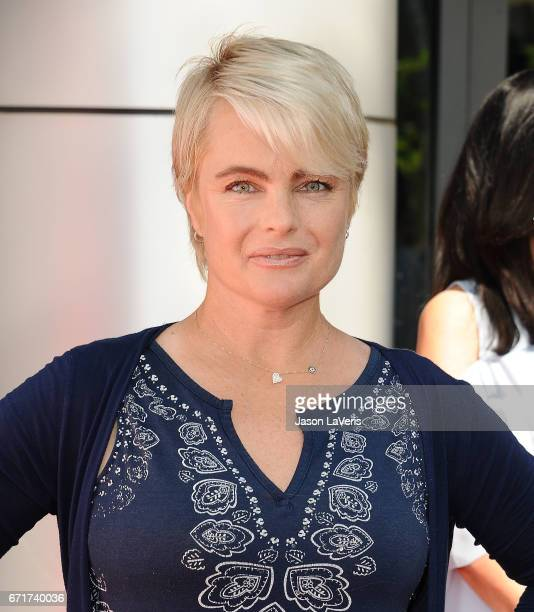 Actress Erika Eleniak attends the 'Baywatch' SlowMo Marathon at Microsoft Square on April 22 2017 in Los Angeles California