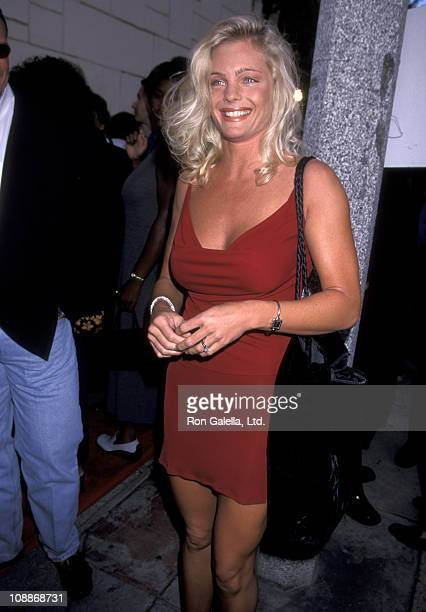 Actress Erika Eleniak attends the premiere of Love Stinks on August 11 1999 at Mann Festival Theater in Westwood California