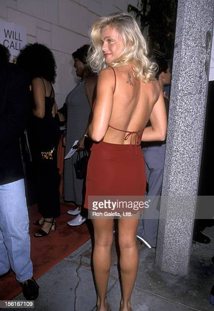 Actress Erika Eleniak attends the premiere of 'Love Stinks' on August 11 1999 at Mann Festival Theater in Westwood California