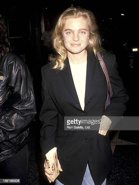 Actress Erika Eleniak attends the premiere of 'Surviving the Game' on April 13 1994 at Mann Chinese Theater in Hollywood California
