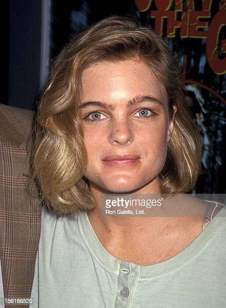 Actress Erika Eleniak attends Video Software Dealers Association Convention on July 25 1994 at the Las Vegas Convention Center in Las Vegas Nevada
