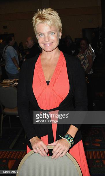 Actress Erika Eleniak participates in The Hollywood Show held at Burbank Airport Marriott Hotel Convention Center on August 5 2012 in Burbank...