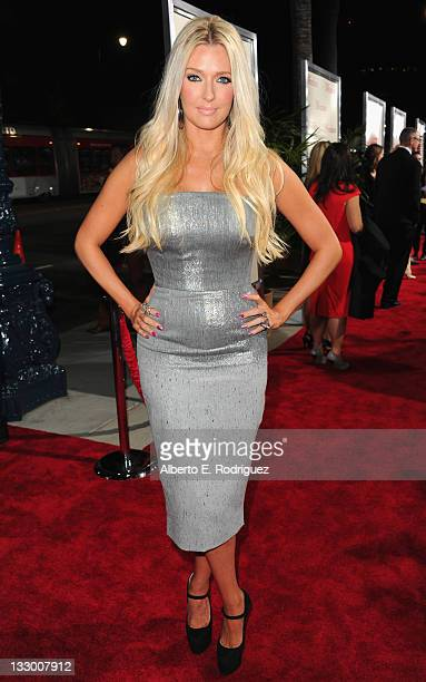 Actress Erika Jayne arrives to the premiere of Fox Searchlight's The Descendants at AMPAS Samuel Goldwyn Theater on November 15 2011 in Beverly Hills...