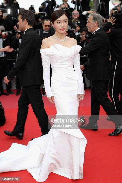 Actress Erika Karata attends the screening of Solo A Star Wars Story during the 71st annual Cannes Film Festival at Palais des Festivals on May 15...