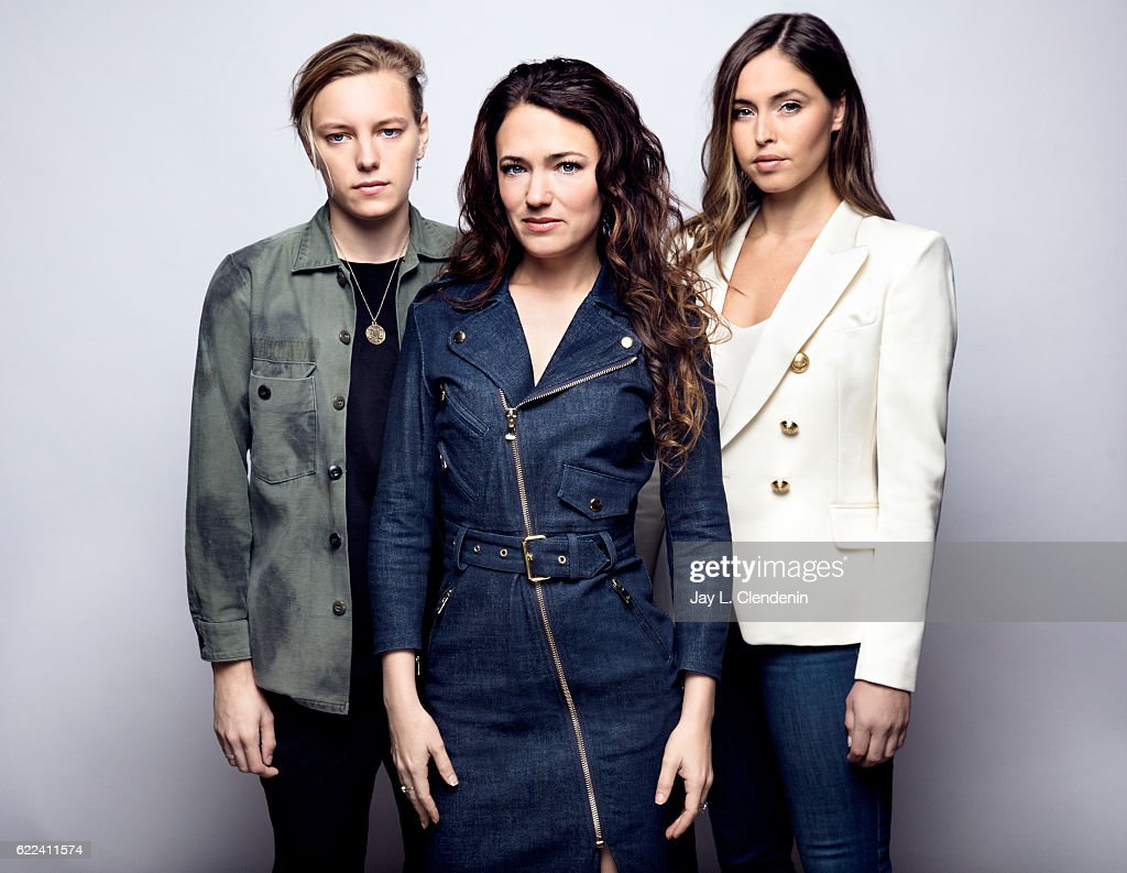 Actress Erika Linder, director April Mullen, and actress Natalie Krill, from the film Below Her Mouth, pose for a portraits at the Toronto International Film Festival for Los Angeles Times on September 13, 2016 in Toronto, Ontario.