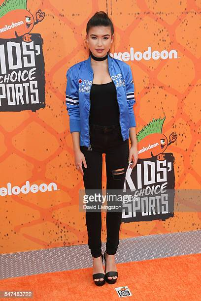 Actress Erika Tham arrives at the Nickelodeon Kids' Choice Sports Awards 2016 at the UCLA's Pauley Pavilion on July 14 2016 in Westwood California