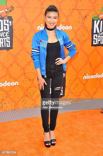 Actress Erika Tham arrives at the Nickelodeon Kids' Choice Sports Awards 2016 at UCLA's Pauley Pavilion on July 14 2016 in Westwood California