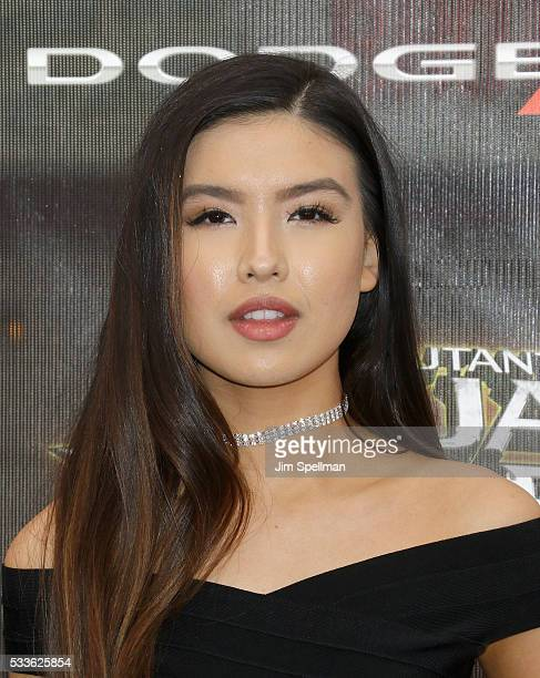 Actress Erika Tham attends the 'Teenage Mutant Ninja Turtles Out Of The Shadows' world premiere at Madison Square Garden on May 22 2016 in New York...