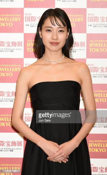 Actress Erika Toda attends the 32nd Japan Best Jewellery Wearer Awards at Tokyo Big Sight on January 14, 2021 in Tokyo, Japan.