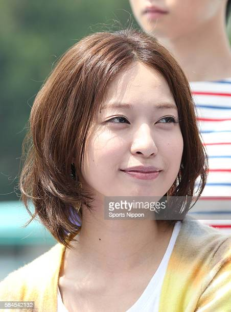 Actress Erika Toda attends the Fuji TV program press conference on August 6, 2013 in Tokyo, Japan.