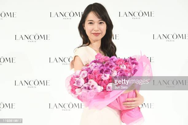 Actress Erika Toda attends the press conference for Lancome on January 15, 2020 in Tokyo, Japan.