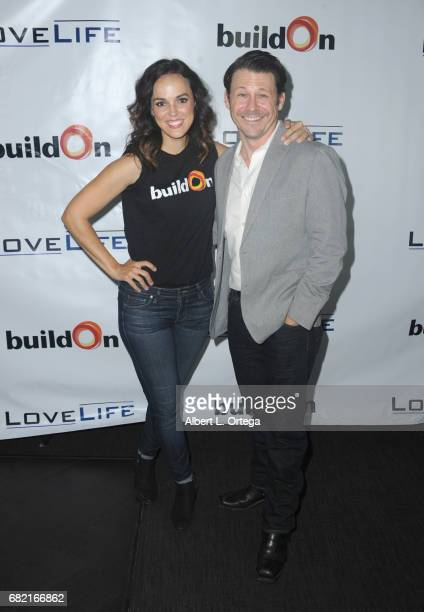 Actress Erin Cahill and Blaine Weaver attend the BuildOn Benefit Concert held at The Roxy Theatre on May 11 2017 in Westwood California