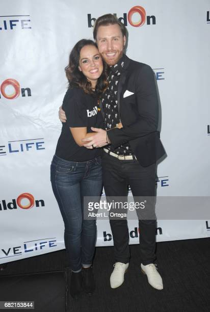 Actress Erin Cahill and singer Paul Freeman attend the BuildOn Benefit Concert held at The Roxy Theatre on May 11 2017 in Westwood California