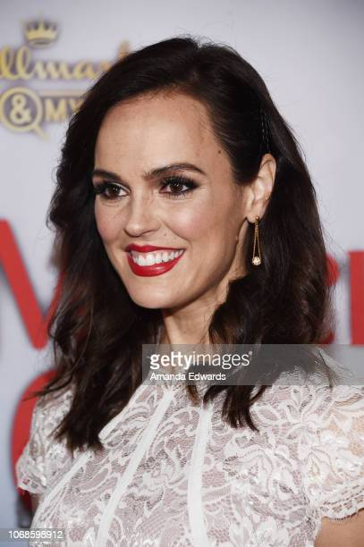 Actress Erin Cahill arrives at the Hallmark Channel Once Upon A Christmas Miracle screening and holiday party at 189 by Dominique Ansel on December 4...