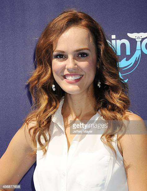 Actress Erin Cahill arrives at the Los Angeles premiere of 'Dolphin Tale 2' at Regency Village Theatre on September 7 2014 in Westwood California