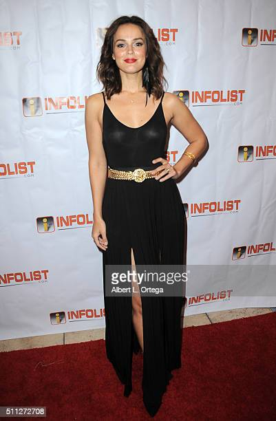 Actress Erin Cahill arrives for the InfoList PreOscar Soiree And Birthday Party for Jeff Gund held at OHM Nightclub on February 18 2016 in Hollywood...
