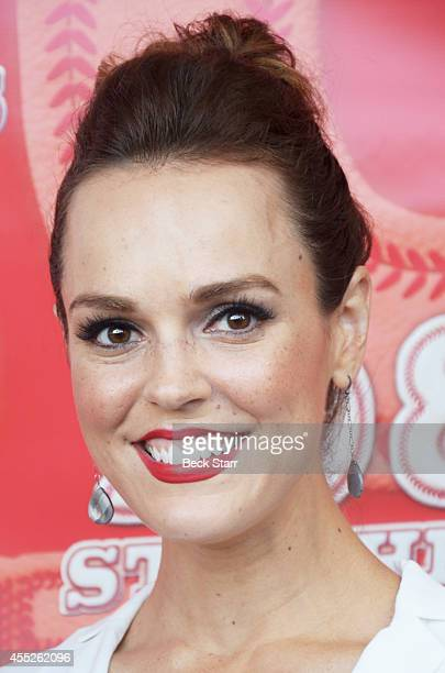 Actress Erin Cahill attends 108 Stitches Los Angeles premiere at Harmony Gold Theatre on September 10 2014 in Los Angeles California