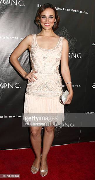 Actress Erin Cahill attends Sue Wong's Great Gatsby Fall 2013 Collection on April 19 2013 in Los Angeles California