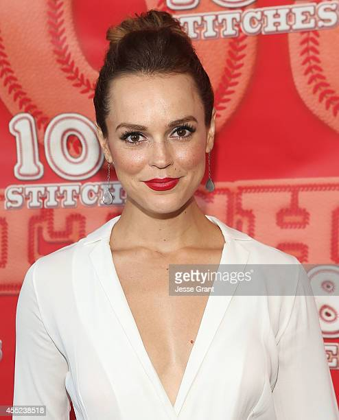 Actress Erin Cahill attends the 108 Stitches Screening Party Screening Party held at Harmony Gold Theatre on September 10 2014 in Los Angeles...