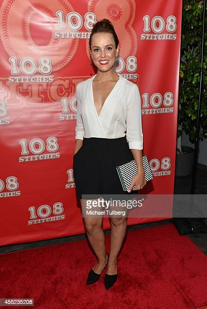 Actress Erin Cahill attends the Los Angeles premiere of the film '108 Stitches' at Harmony Gold Theatre on September 10 2014 in Los Angeles California