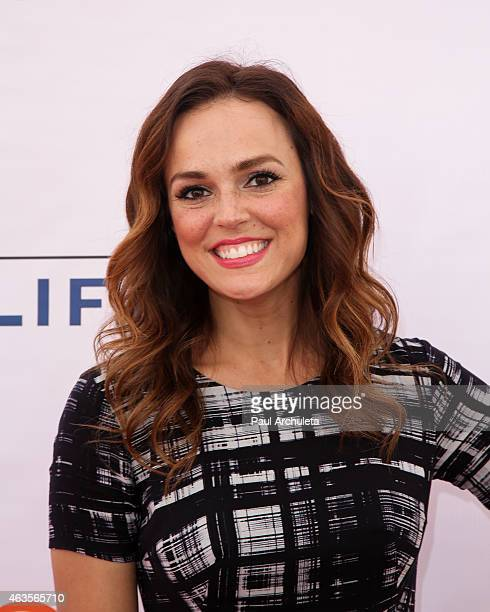 Actress Erin Cahill attends the LoveLife fundraiser to support 'buildOn' at Siren Studios on February 15 2015 in Hollywood California