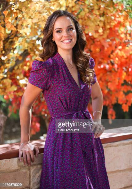 """Actress Erin Cahill visits Hallmark Channel's """"Home & Family"""" at Universal Studios Hollywood on October 08, 2019 in Universal City, California."""