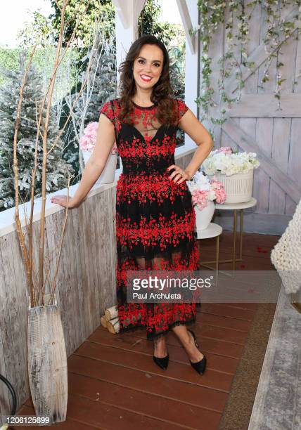 """Actress Erin Cahill visits Hallmark Channel's """"Home & Family"""" at Universal Studios Hollywood on February 13, 2020 in Universal City, California."""