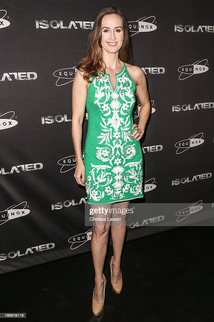 Actress Erin Carufel arrives at the premiere of 'Isolated' at Equinox Sports Club West LA on April 18, 2013 in Los Angeles, California.