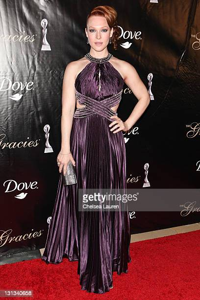 Actress Erin Cummings arrives at the 36th Annual Gracie Awards Gala at The Beverly Hilton hotel on May 24, 2011 in Beverly Hills, California.