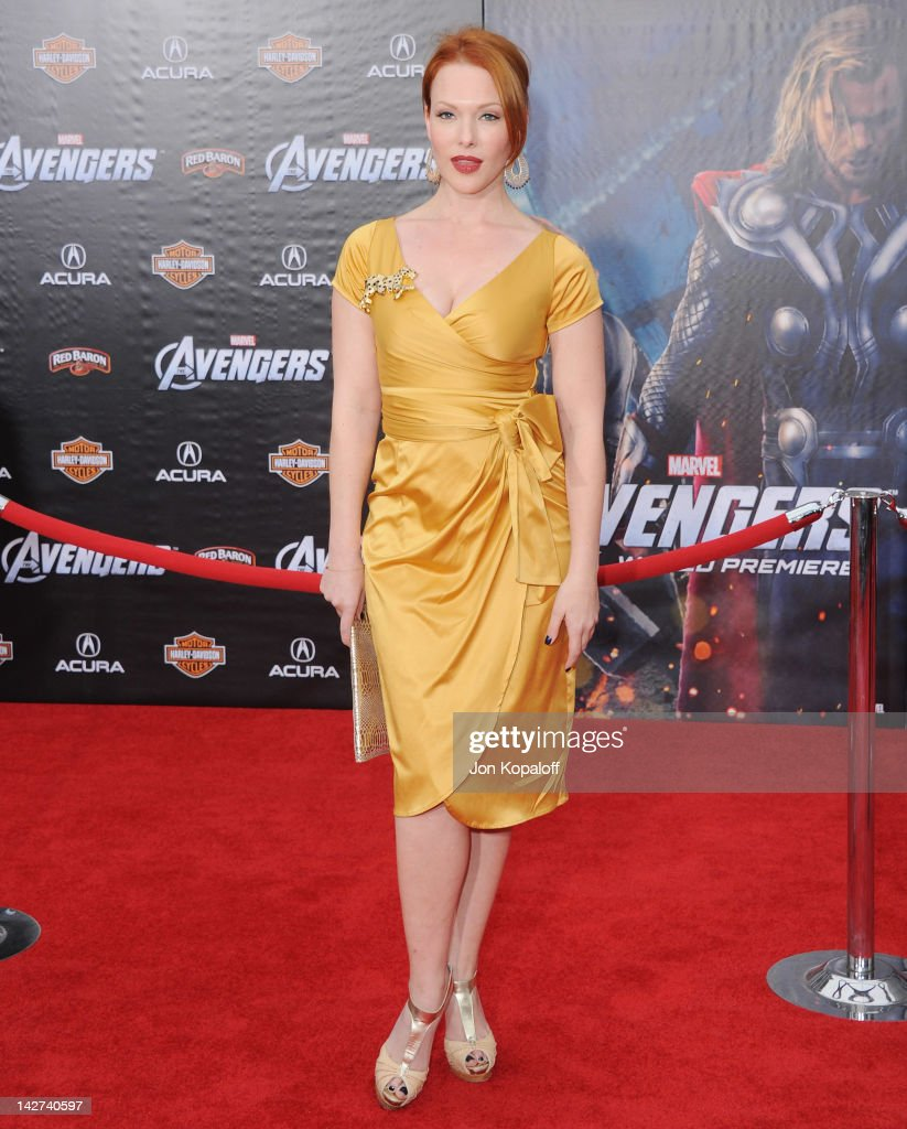 Actress Erin Cummings arrives at the Los Angeles Premiere of 'The Avengers' at the El Capitan Theatre on April 11, 2012 in Hollywood, California.