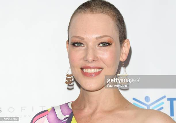 Actress Erin Cummings attends the 4th annual 'Ante Up For A Cancer Free Generation Poker Tournament And Casino Night' at Sofitel Los Angeles At...