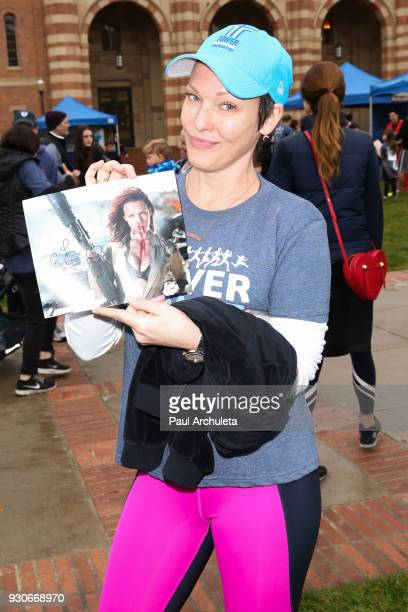 Actress Erin Cummings attends the Power Of Tower run/walk at UCLA on March 11 2018 in Los Angeles California