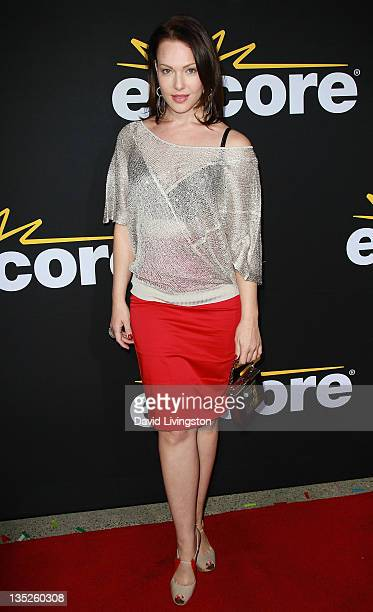 Actress Erin Cummings attends the premiere of Encore's 'Method to the Madness of Jerry Lewis' at Paramount Theater on the Paramount Studios lot on...