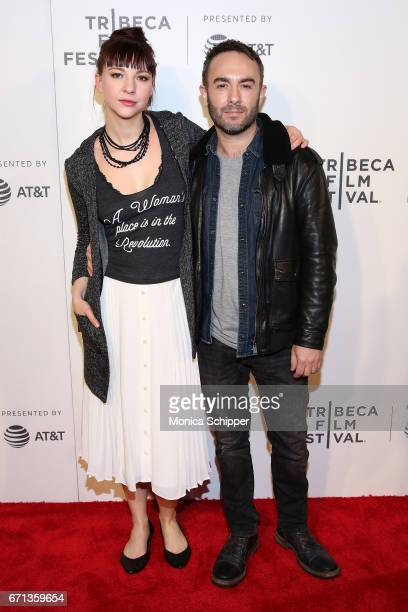"""Actress Erin Darke and director John Krokidas attend the premiere of """"The Handmaid's Tale"""" during Tribeca Film Festival at BMCC Tribeca PAC on April..."""