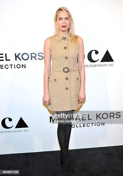 Actress Erin Foster wearing Michael Kors attends Michael Kors Presents The Museum Of Contemporary Art's Distinguished Women In The Arts Luncheon at...