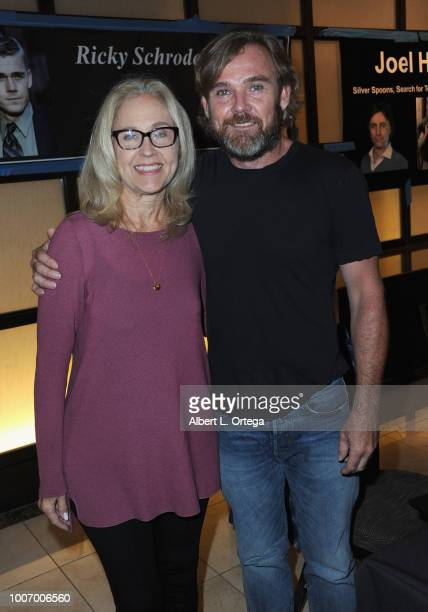 Actress Erin Gray and actor Ricky Schroder attends The Hollywood Show held at The Westin Hotel LAX on July 28 2018 in Los Angeles California