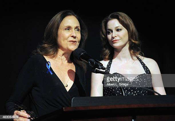 Actress Erin Gray and actress Esme Bianco at the 2015 Society Of Camera Operators Awards held at Paramount Studios on February 8 2015 in Hollywood...