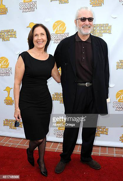 Actress Erin Gray and cinematographer Richard Hissong arrive for the 40th Annual Saturn Awards held at The Castaway on June 26 2014 in Burbank...