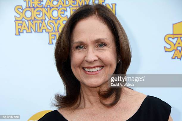 Actress Erin Gray attends the Academy of Science Fiction Fantasy and Horror Films' 40th Annual Saturn Awards at The Castaway on June 26 2014 in...