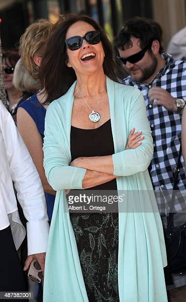 Actress Erin Gray attends the Giancarlo Esposito Star Ceremoney On The Hollywood Walk Of Fame on April 29 2014 in Hollywood California